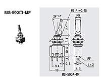 ミヤマ電器 スイッチ トグルタイプ 操作部色:黒 (ON)-OFF-(ON) MS500JMF-K