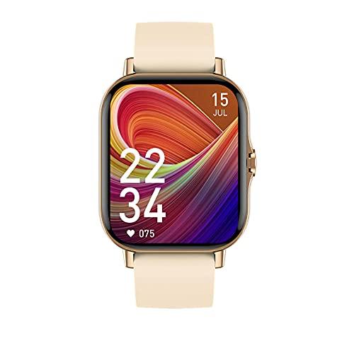 Relojes Inteligentes Fitness con para Pulsera podómetro Reloj Impermeable niños Ritmo cardíaco Monitor Android iOS Mujeres Hombres ip67 GPS Fitness Polar-Dorado
