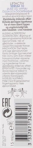 41eD5fvHjEL - Vichy LiftActiv Serum 10 Eyes and Lashes Serum, Anti Aging Eye Treatment & Eyelash Serum with Hyaluronic Acid, Ophthalmologist Tested, 0.51 Fl Oz