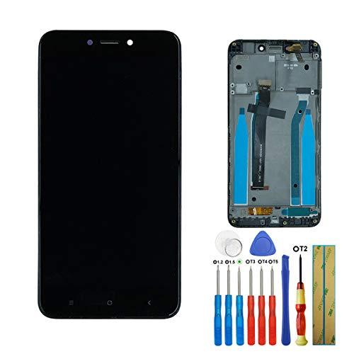 E-YIIVIIL - Pantalla LCD con digitalizador compatible con Xiaomi Redmi 4X, pantalla táctil de cristal de 5 pulgadas, reparación + marco negro