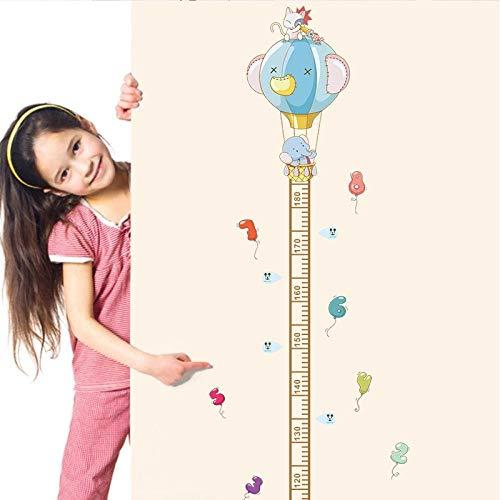 kldfig Animal Olifant Nummer hete lucht Ballon Thuis Decal Hoogte Meet Muur Muursticker voor Kinderen Kamers Kwekerij Decor Kind Groei grafiek-30 * 60cm