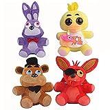 4Pcs 15Cm Bears Toys Five Nights At Freddy'S Plush Toy, PremiumAnime Plush Dolls PP Algodón Animales De Peluche Regalos De Juguete De Cumpleaños para Niños