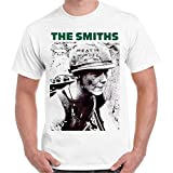 The Smiths Meat Is Murder Punk Rock Morissey Retro T Shirt 22 Oversized tee Shirt White L