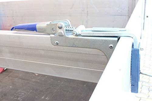 1x Klemmbrett Zwischenwandverschluss Anhänger 1,50-1,80 m, 400 daN, Aluminium