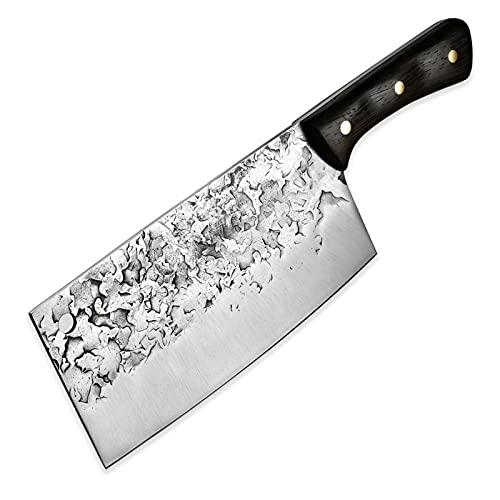 Cuchillo de cuchillo profesional Full Tang Chef Carnicero Cuchillos de cocina BARBACOA Camping Restaurante Herramientas de cocina NUEVO (Color : Cleaver)