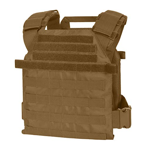 """WarTechGears Tactical Fast Vest 11""""X14"""" MOLLE and PALS Fully Adjustable Law Enforcement (Tan)"""