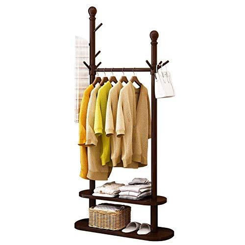 Kleiderständer Garderobe Massivholz Seite 10 Haken Kleiderständer und doppelstöckiges Unterregal für Boxen Schuhe Stiefel 80x30x180cm