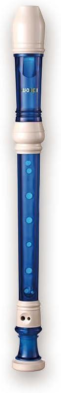 Woodi Quantity limited Challenge the lowest price of Japan Soprano Recorder WRS-228BM Ivory White Blue Translucent