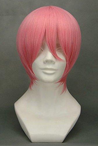 JapanAttitude Perruque Courte Rose 32cm, Cosplay