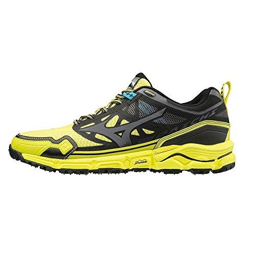 Mizuno Mens Wave Daichi 4 Trail Running Shoes, Bolt/DarkShadow/Black - 6 UK