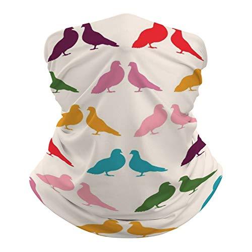 DKE&YMQ Pañuelo unisex multifuncional, con patrón elástico, transpirable, con resistencia a los rayos UV, color morado, magenta, violeta