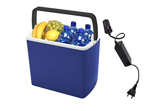 Mobiele thermo-elektrische 12 V camping koelbox voor auto en onderweg met spanningsomvormer op 230 V