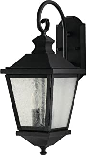 Feiss OL5701BK Woodside Hills Outdoor Patio Lighting Wall Lantern, Black, 2-Light (8