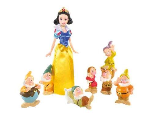 Mattel R9642-0 - Disney Princess, Schneewittchen und die 7 Zwerge, inkl. Puppe und 7 Zwerge