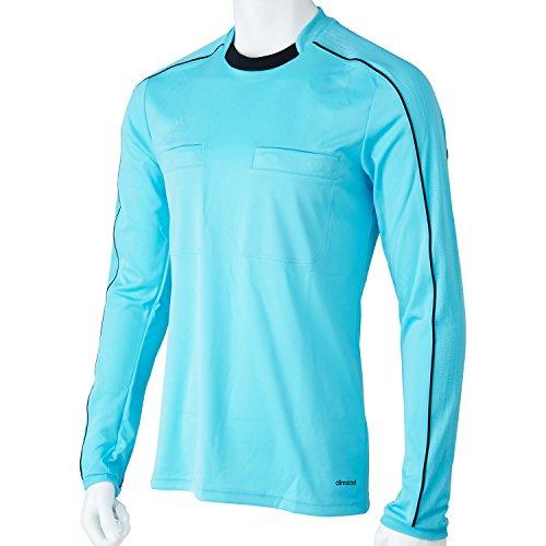 adidas Erwachsene Trikot Referee 16 Jersey Long Sleeve Schiedsrichtertrikot, Blue Glow/Black, M