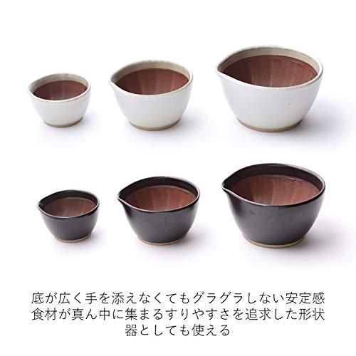 元重製陶所すり鉢白マット11cm国産石見焼もとしげ(すりこぎ付)