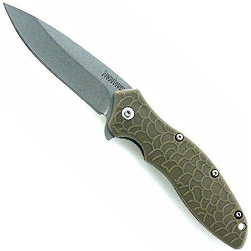 Kershaw Couteau de poche OSO Sweet OD Stone Wash Longueur de la lame 8.3 cm, 18,8 cm