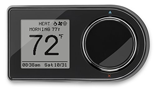 Lux Products GEO-BL Wi-Fi Thermostat, Black by Lux