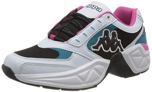 Kappa Unisex-Erwachsene Krypton Sneaker, 1069 White/Petrol,42 EU