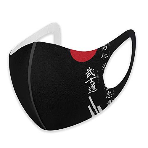 Cov_er Cov_er Japonais Kanji Samurai Bushido Cool réutilisable Humoristique Résistant à la poussière Lavable Tissu réglable pour protéger l'homme et la femme