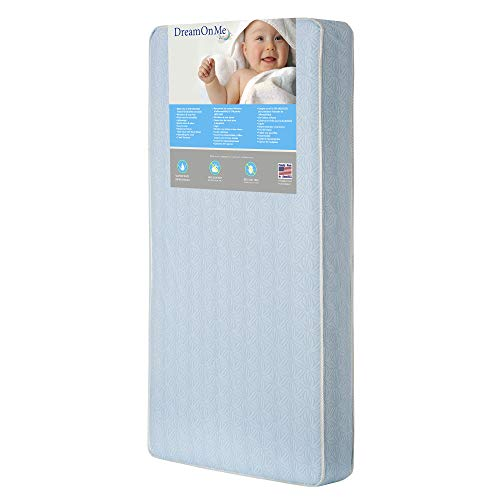 Cheapest Prices! Dream On Me Crib and Toddler, 130 Coil Mattress, Moonlight