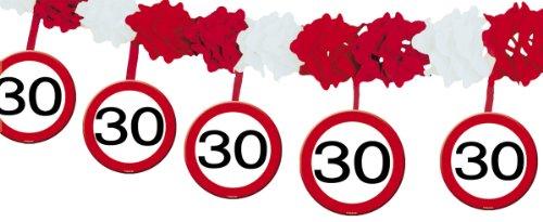 Ghirlanda con segnali stradali 30 anni con ganci
