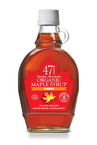 47 North Jarabe de arce orgánico canadiense, Single Source, Grad A, Amber 250g