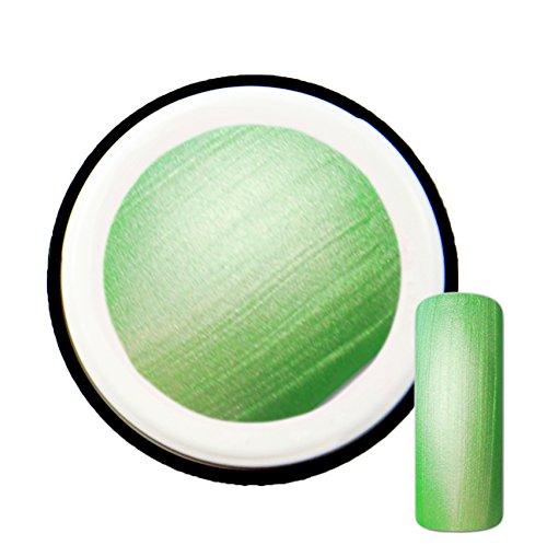 Vert Fluo avec effet de Pearl # 7 Gel UV Vernis 5 ml – Fabriqué en Allemagne