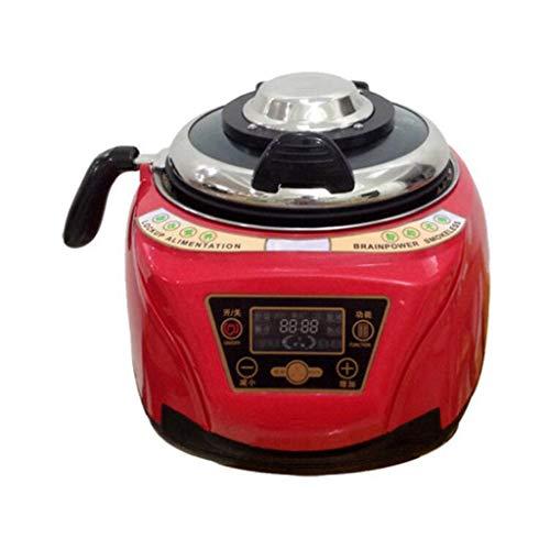 5L Smart Robot Cuisinière Ménage Tout Intelligent Alimentaire Cuisson Machine Automatique Viande Légumes Cuisson Pot (Couleur : Red)