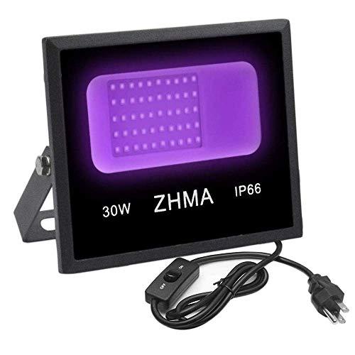 ZHMA UV Black Light Flood Light Glow,Black L review