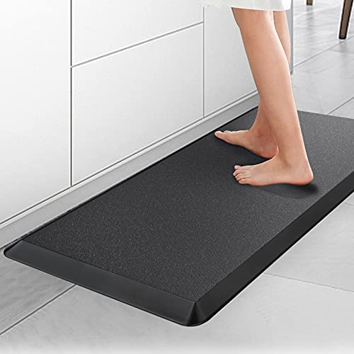 Anti Fatigue Mat, 3/4-Inch Thick Kitchen Floor Mat, Washable and Non-Slipping Cushioned Kitchen Mat, PU Ergonomic Comfort Standing Foam Mat for Kitchen, Office, Laundry, 17' x 32'