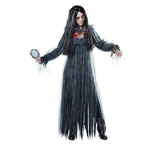 WANLN Disfraces de Vampiro de Bruja Sexy de Halloween Mujeres Adultas Reina Fiesta de Carnaval Cosplay Disfraz Fantasma Novia para Mujeres,Gris,XL