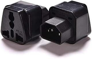 UPS C14 to Universal Female Socket Power Adapter AC Plug