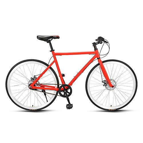 Road Bike, Inner 3 Speed Ultra-Light Aluminium Road Bicycle, Adult Sport Hybrid Racing Bicycle, High-Carbon Steel Front Fork, 700C Wheel, Not Easy to deform/Orange / 169x94cm