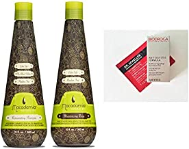 Macadamia Oil Natural Rejuvenating Shampoo and Moisturizing Rinse 10 oz DUO SET + 2 Free Samples. Color Safe, Sulfates & Paraben Free.