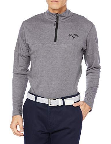 [キャロウェイ] [メンズ] 長袖 ハーフジップ シャツ (吸湿発熱性) / 241-0233508 / ゴルフ ウェア 022_グレー 日本 LL (日本サイズ2L相当)