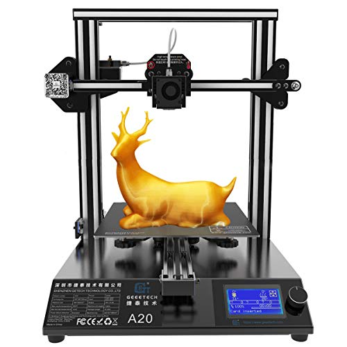 3D Printer,GIANTARM New Geeetech A20 3D. Printer With Large Print Space: 255 * 255 * 255mm and Power Failure Recovery, Good Adhesion On The Print Bed, Quick Assembly, DIY Kit