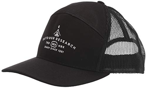 Outdoor Research Unisex-Erwachsene Shady 7 Panel Trucker Hut, Unisex-Erwachsene, Shady 7 Panel Trucker Hat, schwarz, One Size