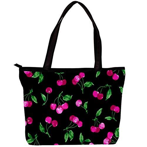 Xingruyun Umhängetasche Mädchen Kirsche Handtaschen Geldbörsen Groß Kapazität Schultertaschen Damen Tasche Totes Für Reisen/Schule/Arbeit/Einkaufen/Dating 30x10.5x39cm