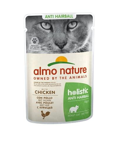 Almo Nature Cat funzionale della anti-hairball con pollo, 30 x 70 g