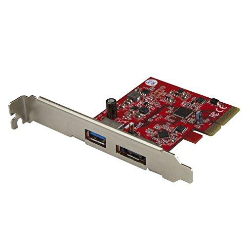 STARTECH.COM Scheda PCie Esata a 2 Porte USB 3.1 10 Gbps, 1X USB-A e 1X Esata, Scheda di Espansione USB 3.1
