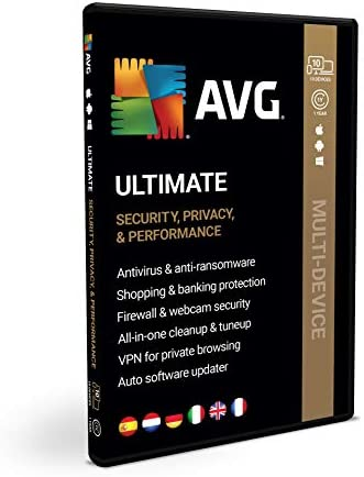 AVG Ultimate - Antivirus avec AVG Secure VPN et AVG TuneUp pour Accélérer votre PC - | BOX | 1 An | PC/Mac