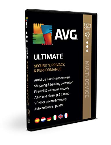 AVG Ultimate 2020 | Multi-dispositivo | 10 dispositivi | 1 anno | Box
