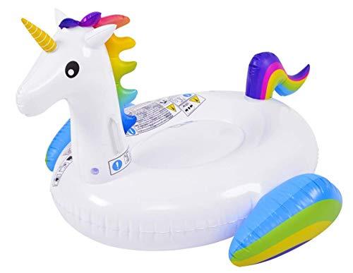GLOBO- Unicornio 132x110x78cm Brazaletes y flotadores Natación y Waterpolo Unisex Infantil, Color, única (1)