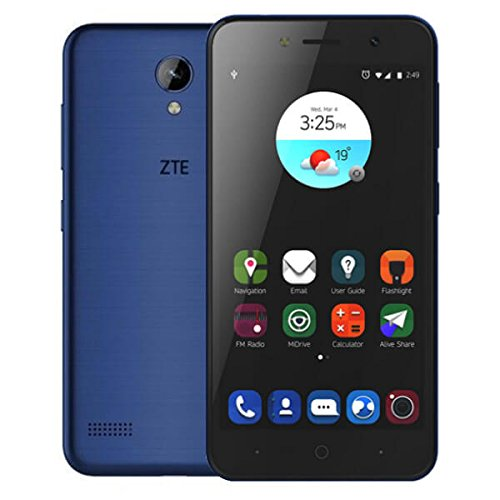 ZTE Blade A520 Smartphone (12,7 cm (5 Zoll) Display, 16 GB Speicher, Dual-SIM, Android 7.0) Blau