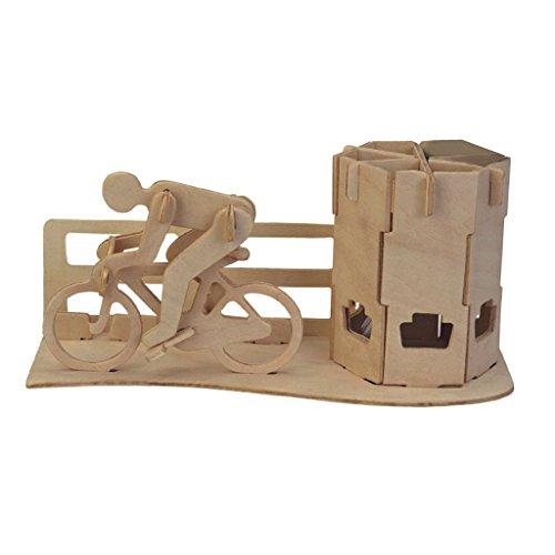 perfeclan DIY 3D Holz Puzzle Rennrad Federbehälter Modell Kit Spielzeug Puzzle Geschenk - Rennrad Federbehälter