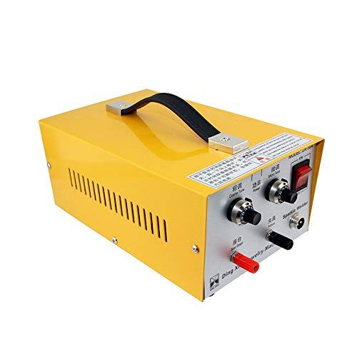 MaquiGra Soldadora Láser de Punto Automática para Joyería 2 en 1 Máquina de Soldadura de Pulso Ajustable 30A 200W Rango de soldar 0.5-1.0MM (Amarillo)