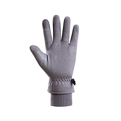 Eariy - Guantes de invierno cálidos para bicicleta, guantes de invierno para pantalla táctil, impermeables, resistentes al viento, antideslizantes, color negro, guantes de regalo para hombre y mujer