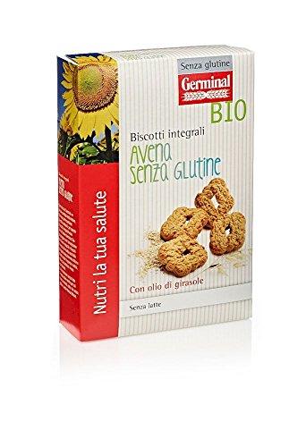 Germinal Bio Biscotti Integrali Avena Senza Glutine - 8 confezioni da 250 gr - 2000 gr