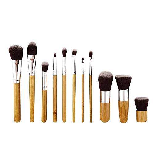 Ensembles de pinceaux de maquillage haut de gamme, pinceau de maquillage en fibre haut de gamme, pinceau de maquillage manche en bambou, pinceau de maquillage super doux en forme de goutte Kit de pinc